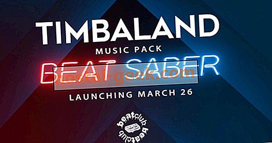 Das Beat Sabre Music Pack enthält 5 brandneue Songs aus Timbaland